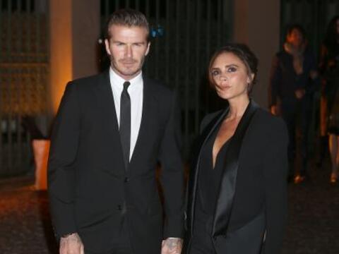 La pareja británica más a la par fue David Y Victoria Beck...