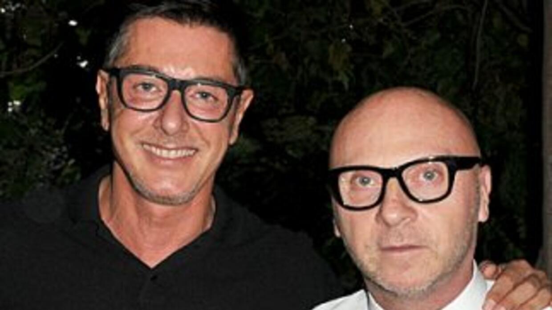 Los diseñadores Stefano Gabbana y Domenico Dolce.