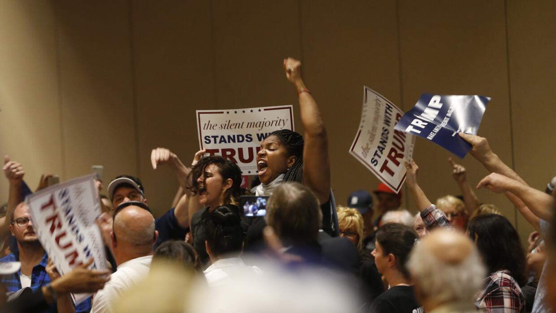 Protestas y violencia en eventos de Donald Trump