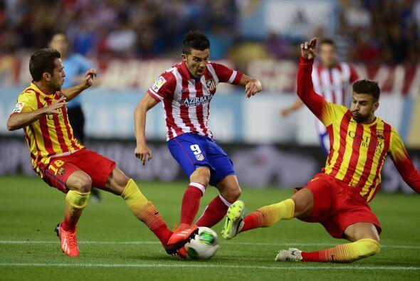 Incluso, casi de inmediato el '9' del Atlético estuvo muy cerca de aumen...