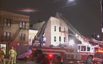 Se presentó incendio en edificio de la Avenida Morris Park, El Bronx