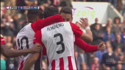 Gol 100% mexicano en Holanda: Guardado pasa, Moreno anota