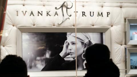 Un escaparate de la firma Ivanka Trump.