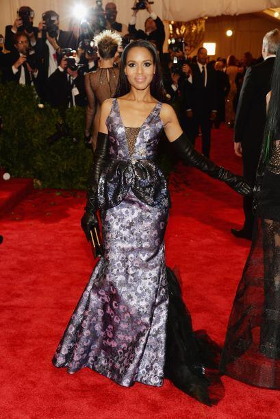 Kerry Washington apostó por un vestido de Vera Wang y aunque no f...