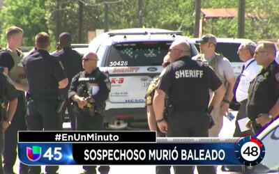 En Un Minuto Houston: Agentes de policía balean y matan a un hombre hisp...
