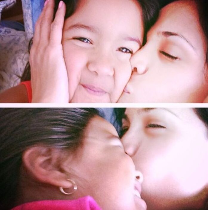 """""""No olvides decir te amo! Buenas noches... #misamores #Antonella #Michae..."""
