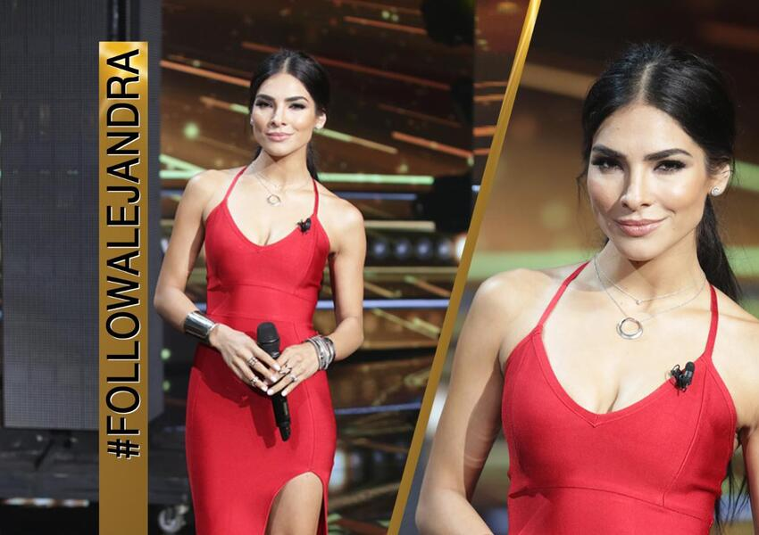 Alejandra: The sexy woman in red!