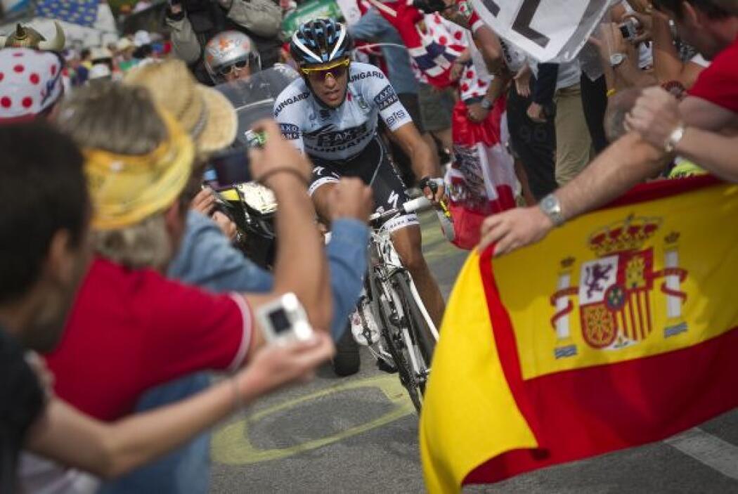 El gran derrotado del Tour, el español Alberto Contador, quien quedó en...