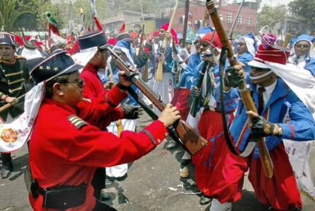 El general ejecutó la defensa desde los fuertes de Loreto y Guadalupe, y...