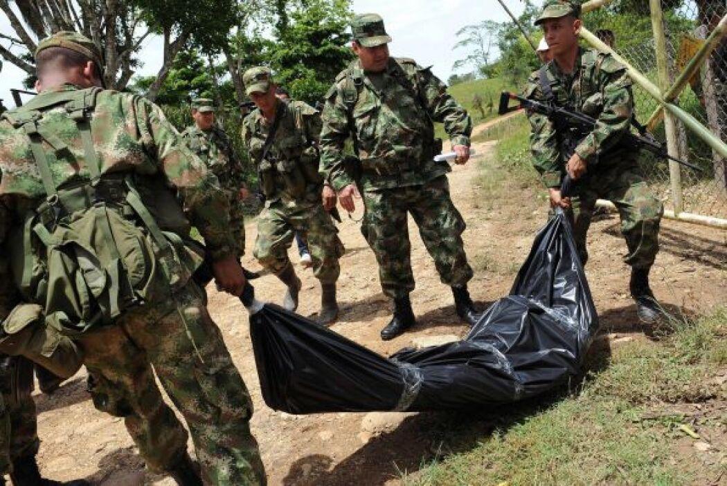 El jefe del Frente Quinto de las Fuerzas Armadas Revolucionarias de Colo...