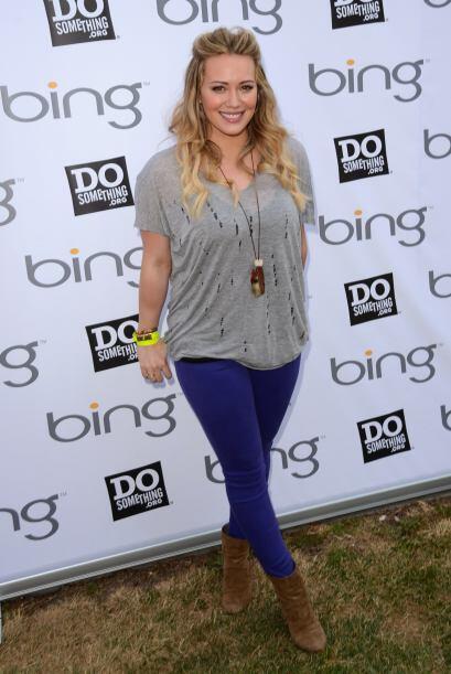 A Hilary Duff le pasó lo mismo, simpemente no podía regresar a su talla...