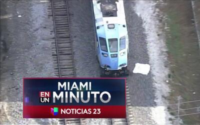 'Miami en un Minuto': un peatón murió al ser atropellado por el Tri Rail...