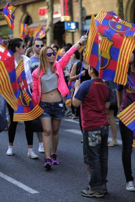 Se armó la fiesta en Barcelona un día después de que el cuadro 'blaugran...