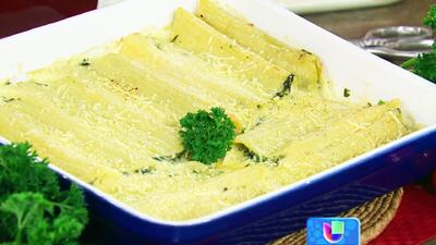 Receta de canelones de Espinacas con el Chef Pepín