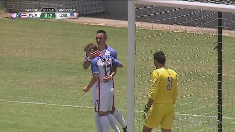 Bobby Wood se escapa a velocidad y anota el 2-0 de EEUU ante Puerto Rico
