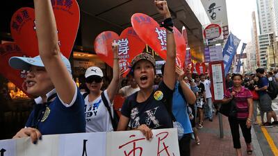 Las impactantes imágenes de  las protestas en Hong Kong