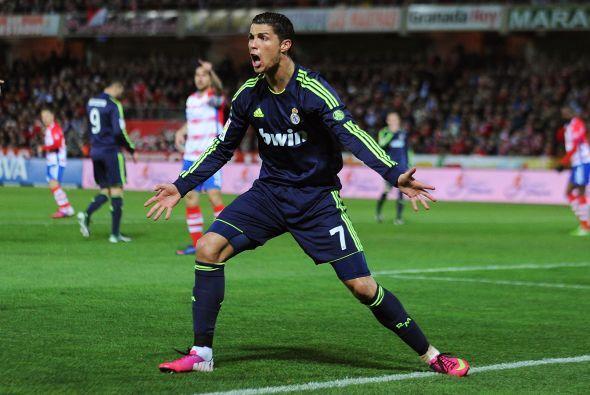 La única oportunidad de Cristiano Ronaldo fue un tiro libre muy desviado.