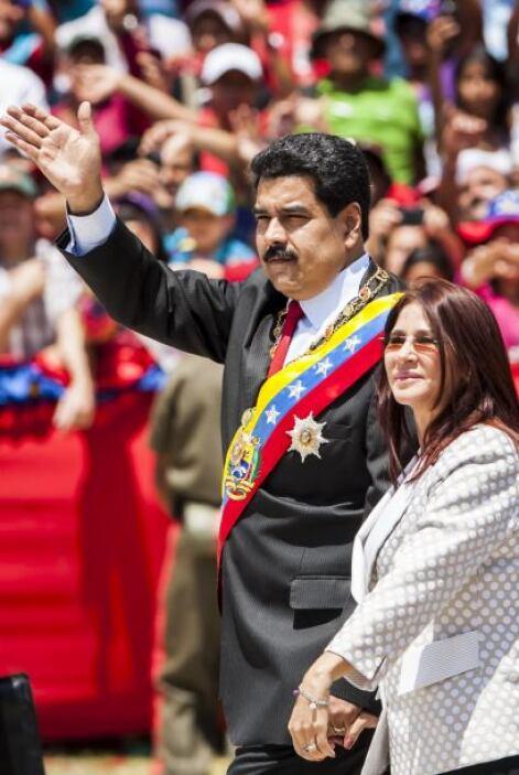 El presidente de Venezuela, Nicolás Maduro, encabezó un acto en homenaje...