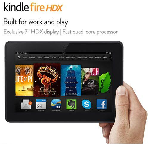 Amazon Kindle Fire HDX, $230 (de 7 pulgadas, 16 GB, con acceso a Wi-Fi)....