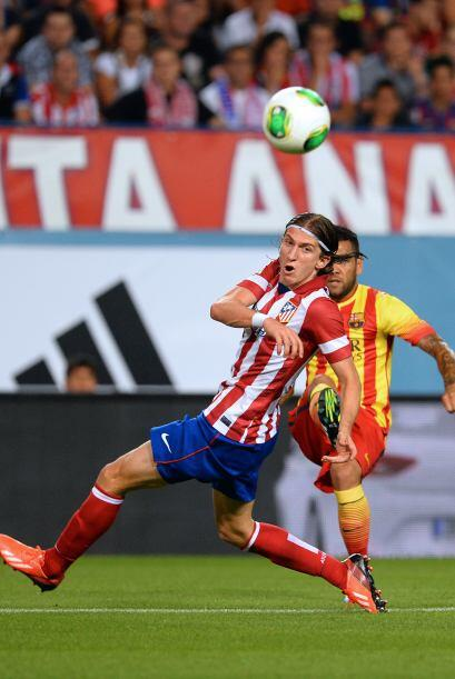 Cada pelota era disputada por los madrileños con fuerza marcada y el Bar...