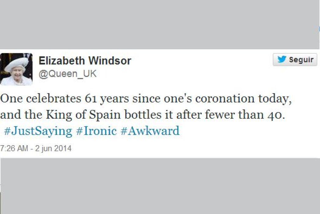Hasta la Reina Elizabeth figuró dentro de los memes. (Imagen tomada de l...