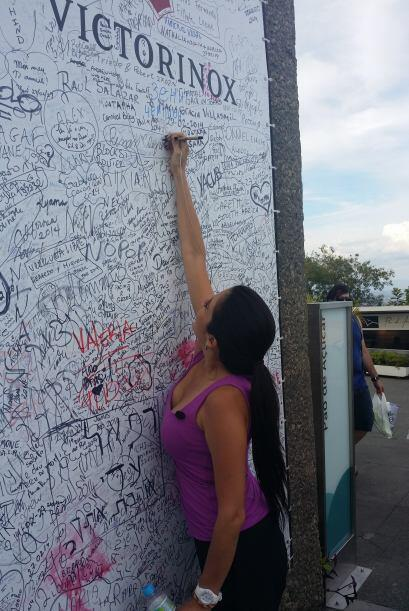Antes de irse, Maity dejó su nombre escrito en una simbóli...