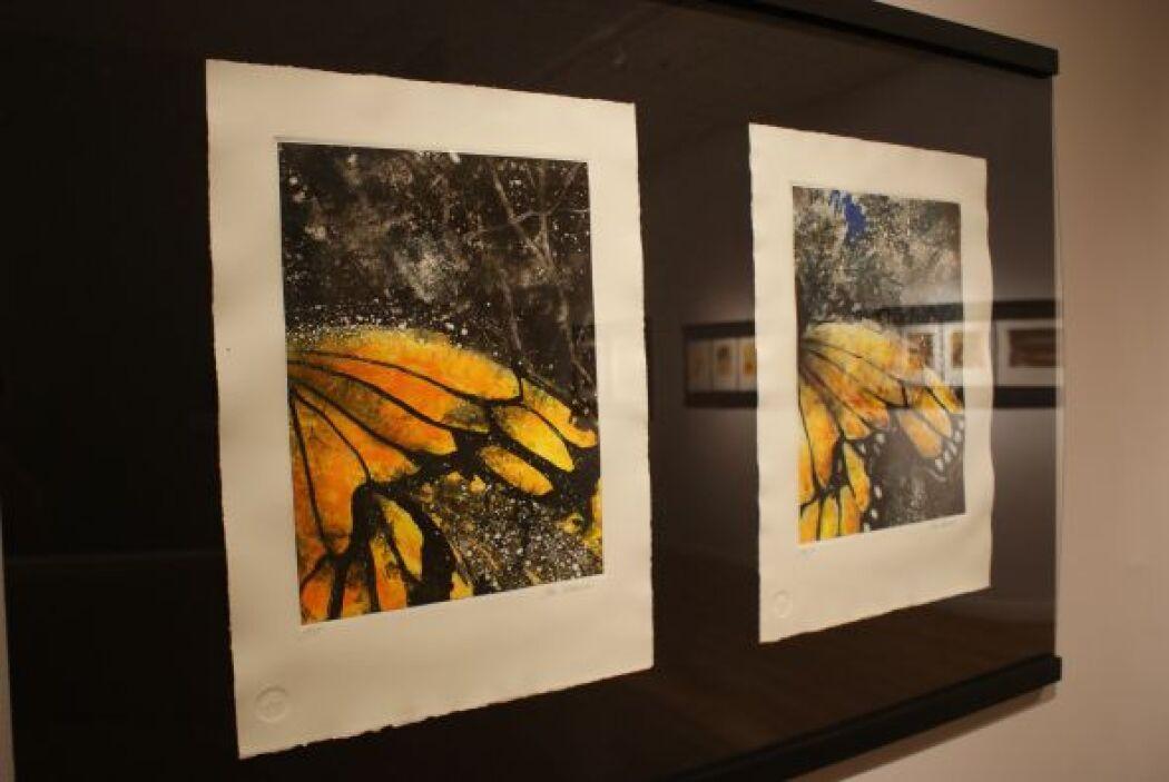 Las monarca también están representadas en obras de arte.