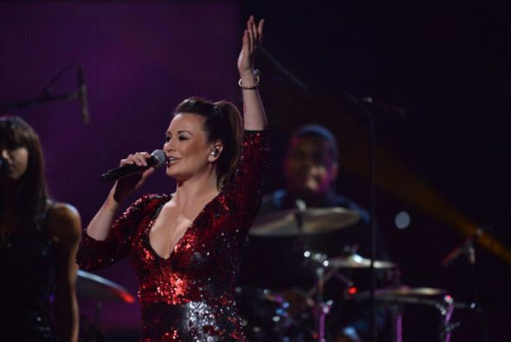 María José interpretó el tema 'Él', que fue la canción de la telenovela...