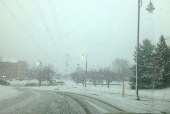 También de Hugo recibimos esta imagen de las calles nevadas en Minnesota.