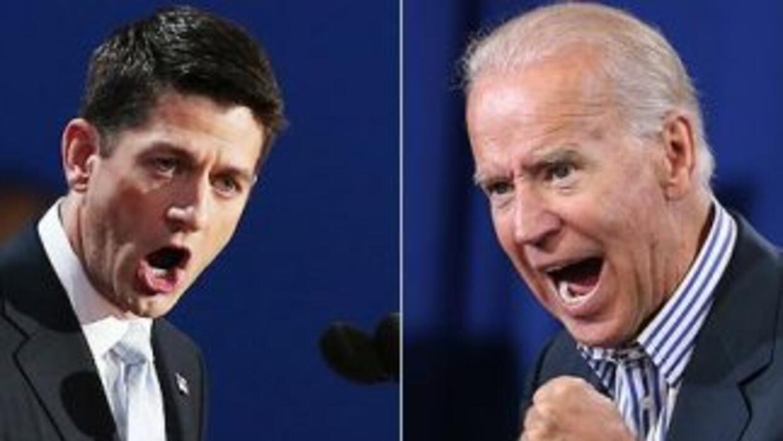 El candidato vicepresidencial republicano, Paul Ryan, y el vicepresident...