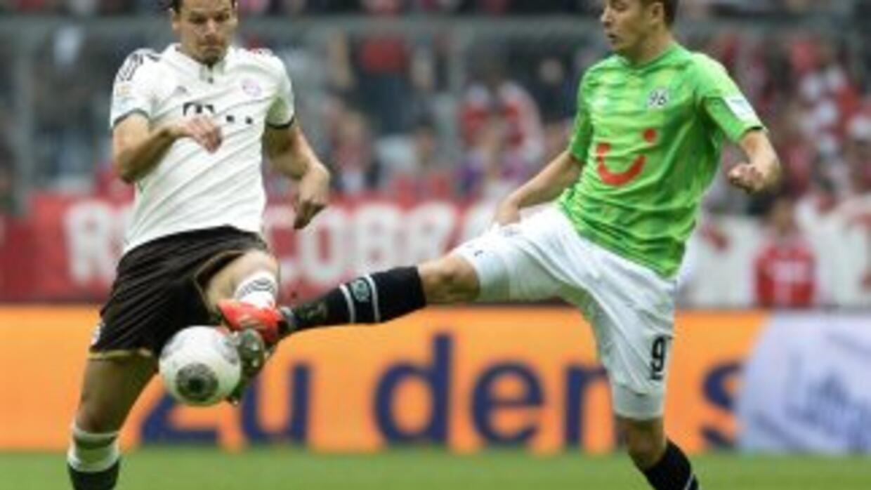 Bayern ganó a Hannover en la Bundesliga.