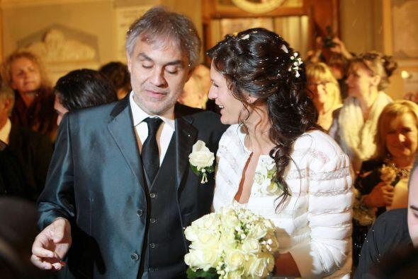Encantadoras fotos de la boda de Andrea Bocelli y Verónica Berti....