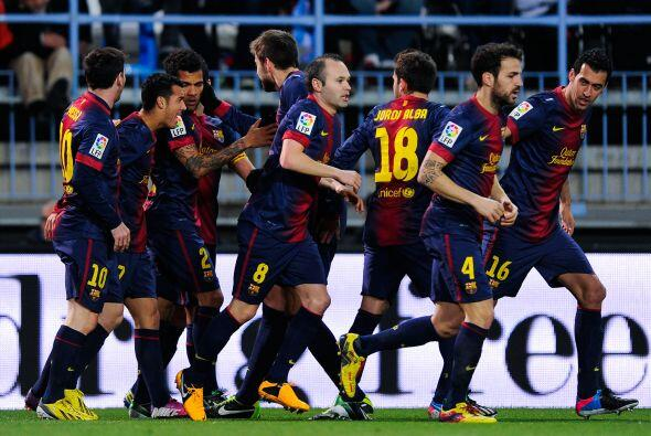 Pero el primer gol fue para los visitantes, cuando Pedro abrió el marcador.