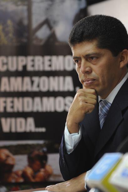 Pablo Fajardo, abogado de los demandantes informó como Texaco fir...