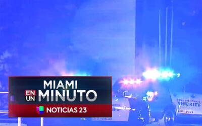 'Miami en un Minuto': autoridades buscan al sospechoso de causar tiroteo...