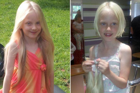 Esta pequeña donó su cabellera de Rapunzel para los niños con cáncer, pu...