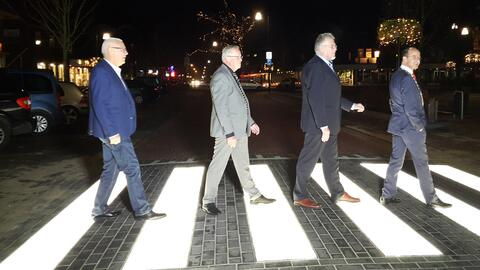 Dutch glowing crosswalk
