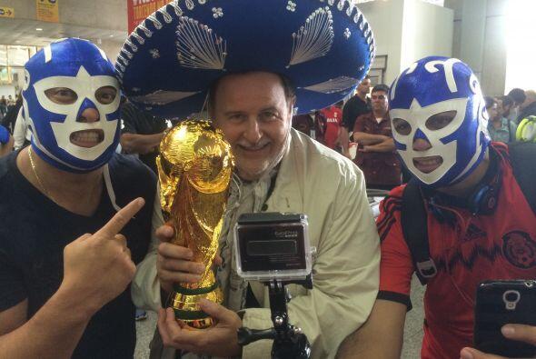 Los brasileños lo consintieron y lo llevaron a conocer lugares ma...