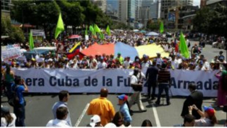 Marcha contra la injerencia cubana en Venezuela