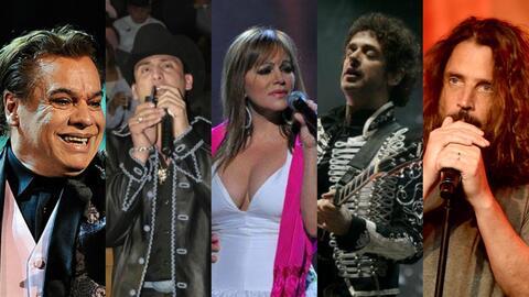 Juan Gabriel, Valentín Elizalde, Jenni Rivera, Gustavo Cerati, Chris Cor...