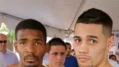 Tyrone Harris y Michael Pérez en el pesaje.