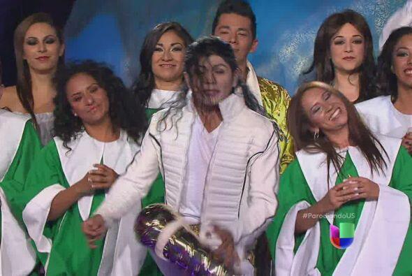 Michael Jackson con Angélica Vale.
