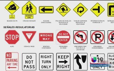 Examen de señales de tránsito del DMV