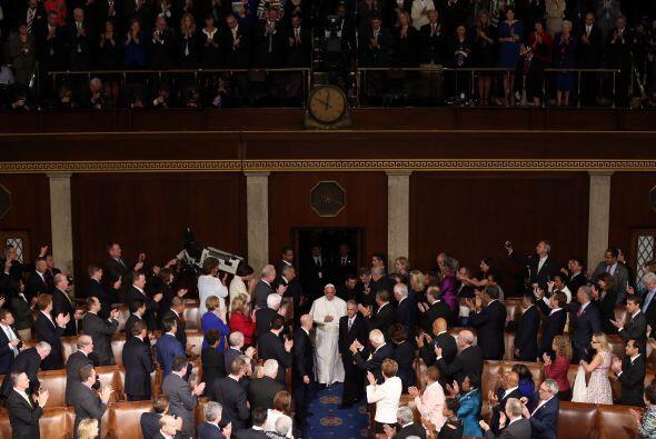 Así fue recibido Francisco en el Congreso de EEUU.