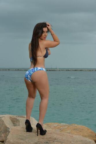 ¿Tú le darías la espalda a esta belleza caribeña?