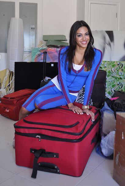 Las maletas con las que las chicas llegaron a la mansión, son tam...
