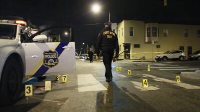 La escena tras el tiroteo