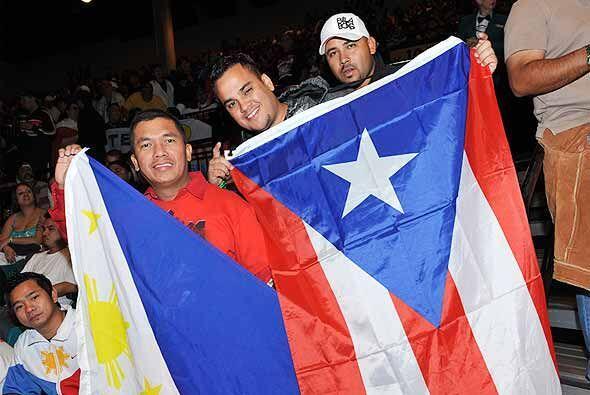 Aunque rivales en la confrontación deportiva, filipinos y puertorriqueño...