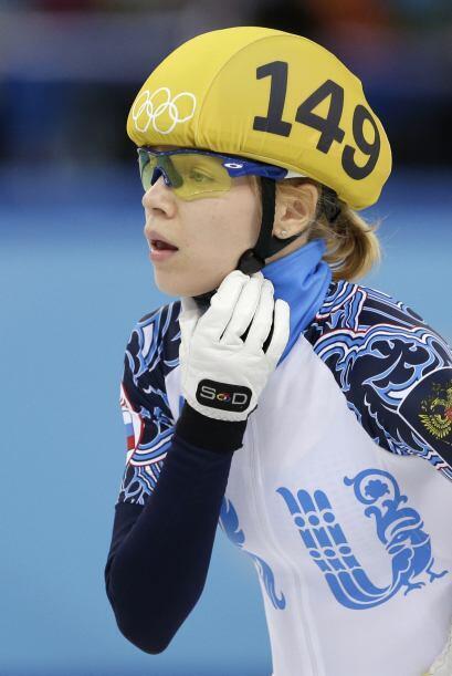 Tatiana Borodulina forma parte del equipo olímpico de bellas patinadoras...