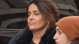 Salma y Alec Baldwin filman la película 'Drunk Parents'.